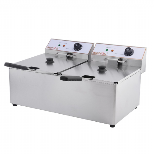 Deep Fat Fryer 2 x 11 Ltr Twin Tank - DF-11L-2